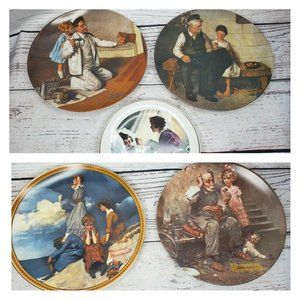 Norman Rockwell 5 Plate Collectors Plates Official